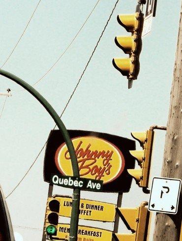 urban signage and stoplights