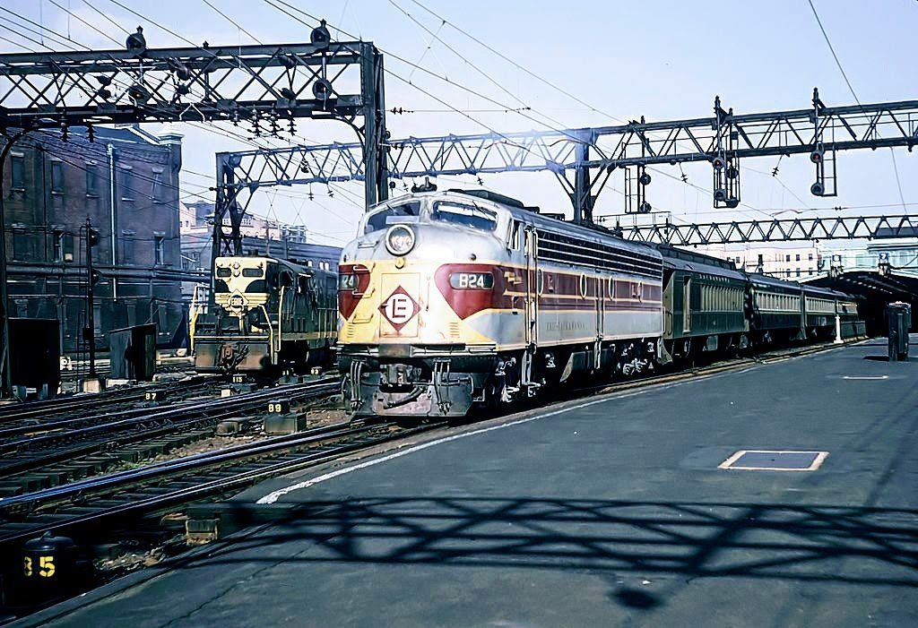 train engine in Hoboken Terminal in September, 1965
