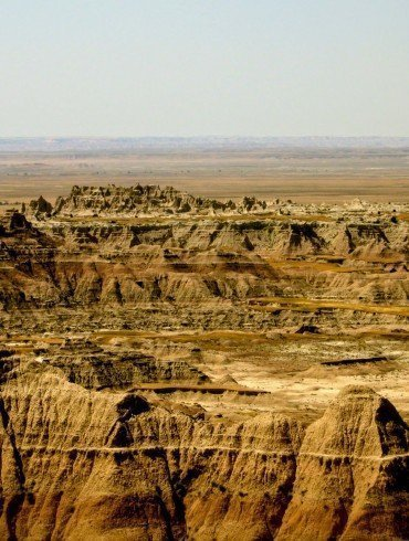 barren badlands in South Dakota