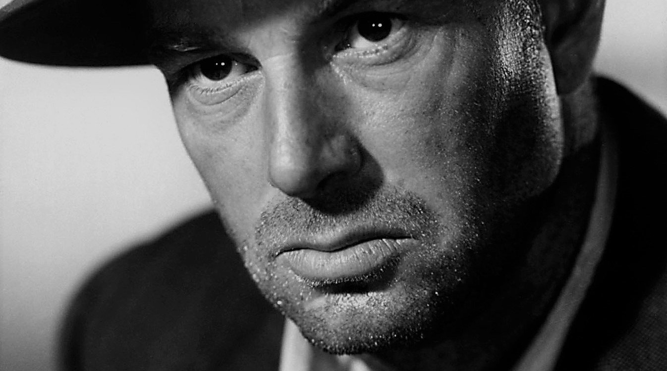 actor Sterling Hayden looking tough with a three day old beard