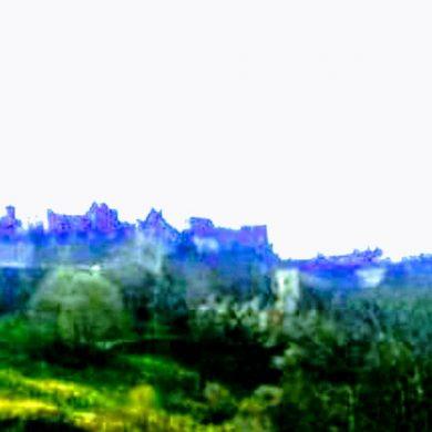Edinburgh, Scotland landscape photo in painterly style