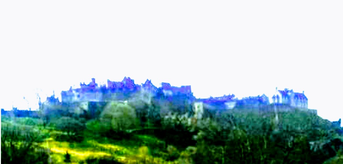 Edinburgh, Scotland landscape photo in painterly style