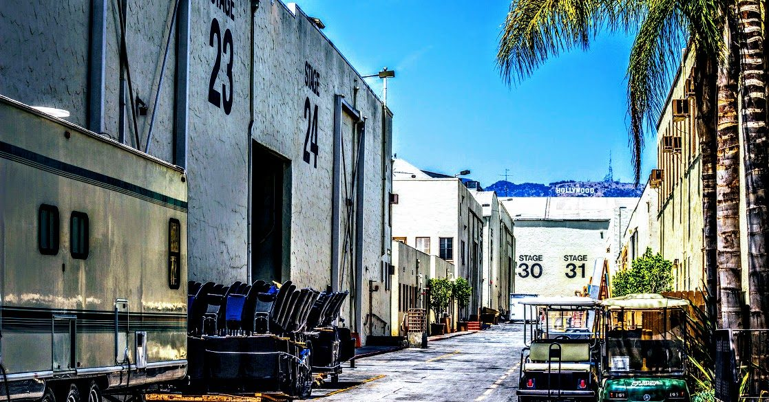 back lot at film and TV production studios