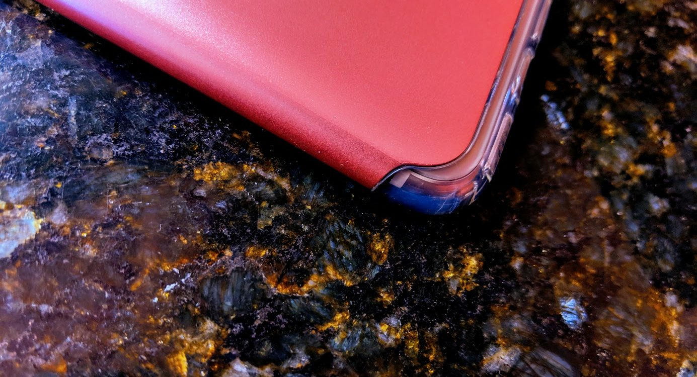 pink smartphone in close up