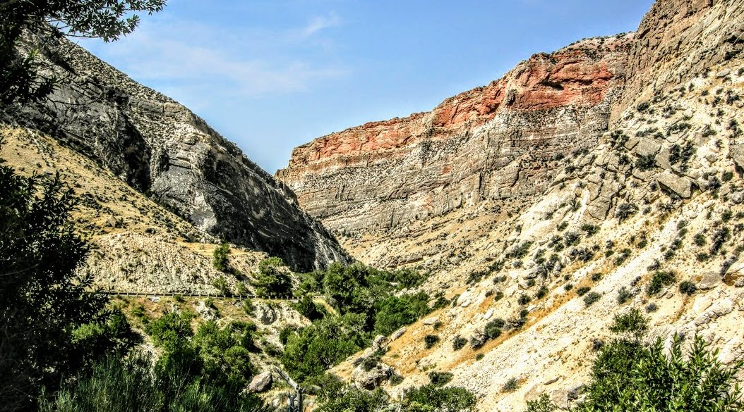 rocky canyon with blue sky
