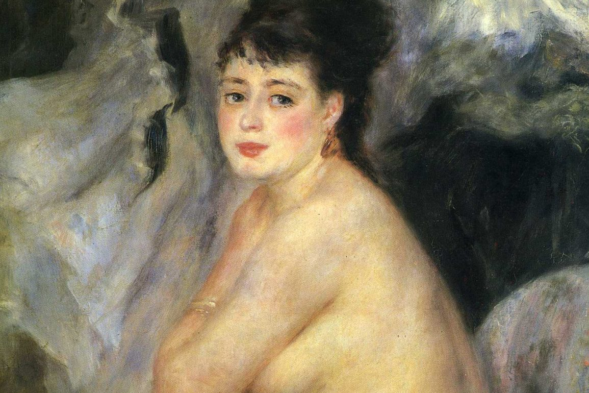 painting of a woman