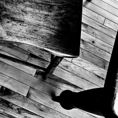 empty wooden chair