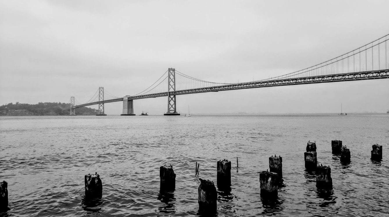 Bay Bridge in San Francisco fog