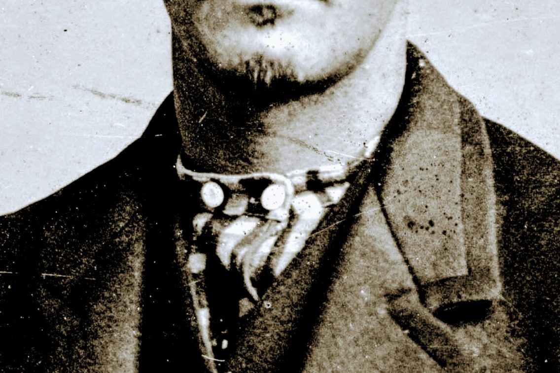 close up of Wyatt Earp's collar