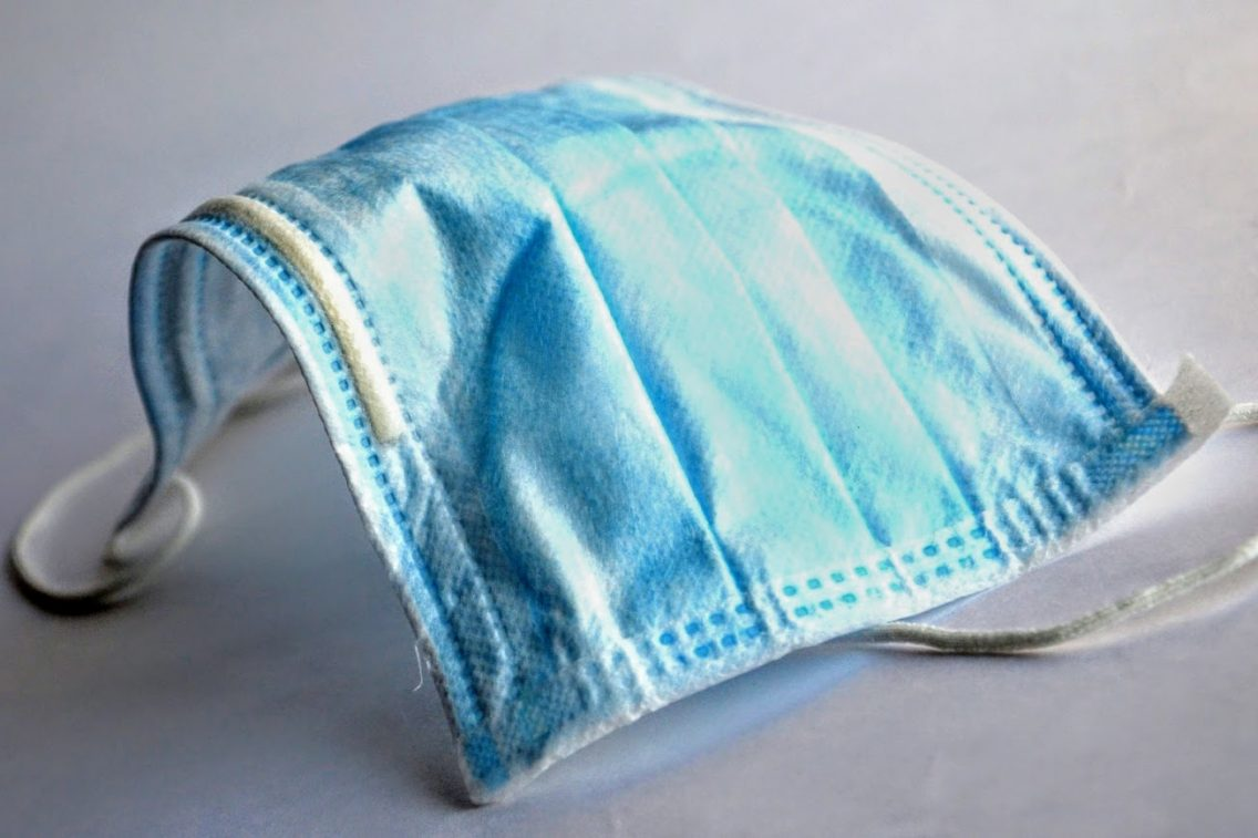 blue hospital mask