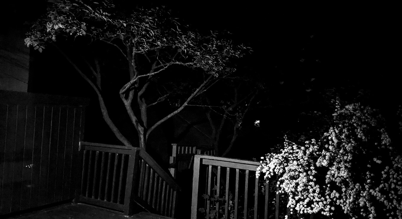 dark porch at night