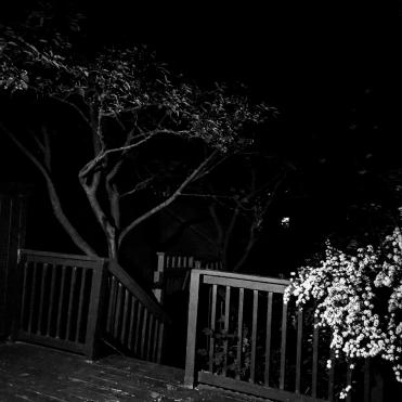 dark porch at night