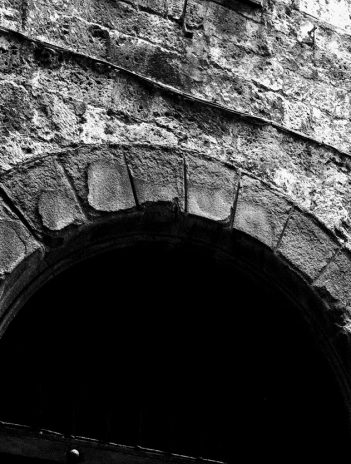 arch in stone wall
