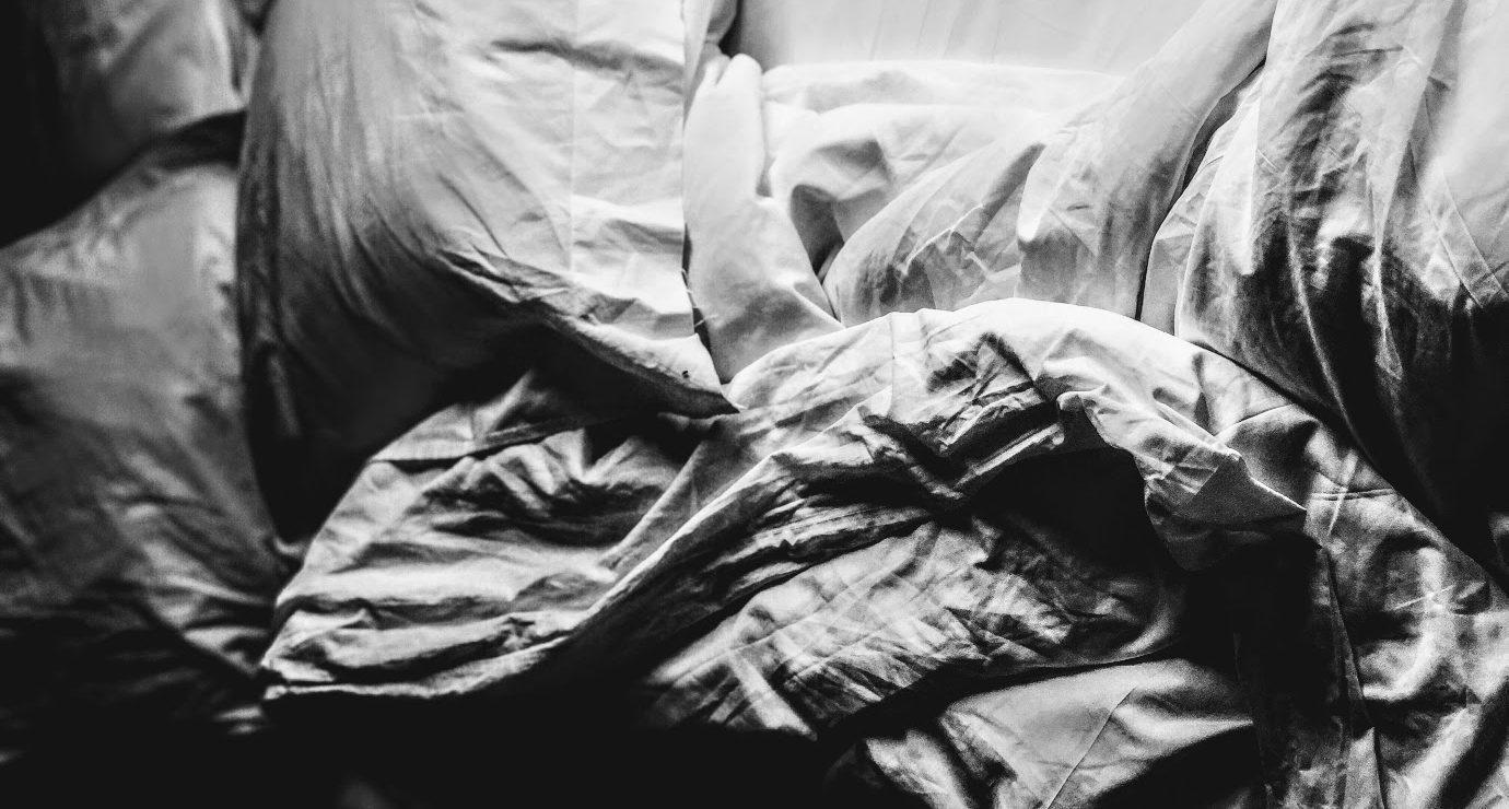 rumpled bedsheets